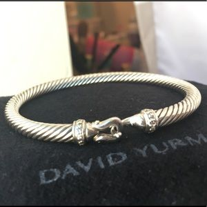 David Yurman 5mm Diamond Buckle Bracelet